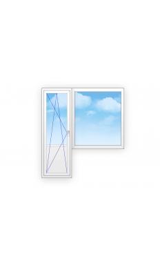 Балконный вход ПВХ из профиля Brusbox 2000*2000