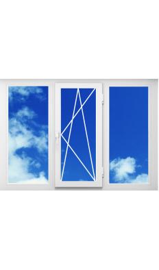 Окно ПВХ из профиля Brusbox 2100*1400